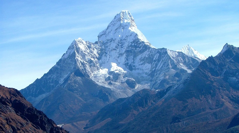 View of Ama Dablam, Nepal.